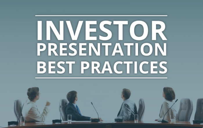 investor presentation best practices
