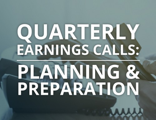 Quarterly Earnings Calls: Planning & Preparation