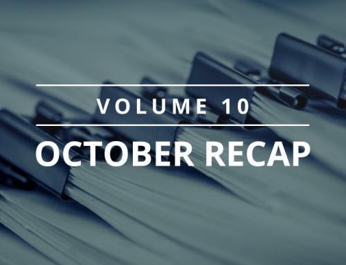 Volume 10 – October Recap