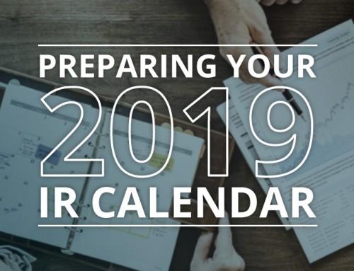 Preparing Your 2019 IR Calendar