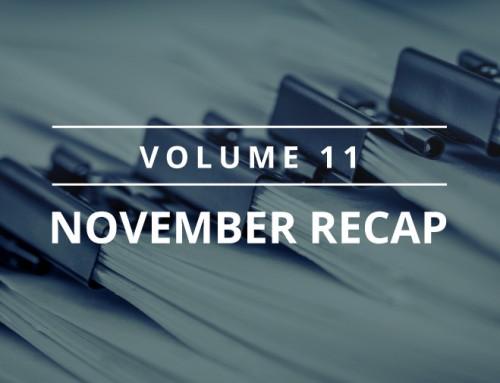 Volume 11 – November Recap