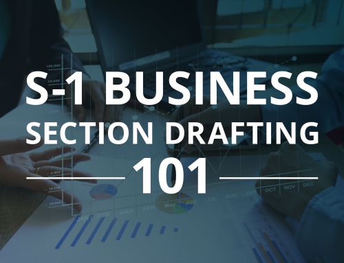 S-1 Business Section Drafting 101